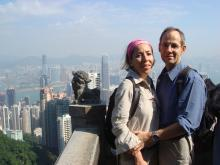 George and Helen at Victoria Peak