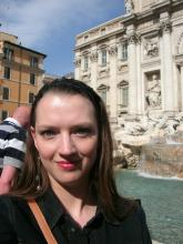 Me at the Trevi Fountain on my first visit