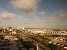 view from the Hilton LAX