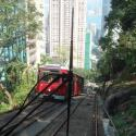Going down on the Peak tram